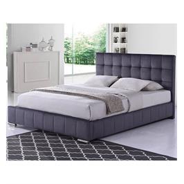 מיטה זוגית מרופדת בד קטיפתי תוצרת HOME DECOR דגם פטסי