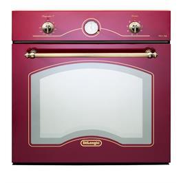 תנור אפיה בנוי בעיצוב כפרי בצבע אדום 8 תוכניות תוצרת Delonghi איטליה דגם NDB342R