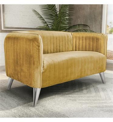 ספה דו מושבית מעוצבת בריפוד בד קטיפה תוצרת HOME DECOR דגם בריסל