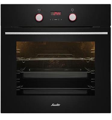 """תנור אפיה בנוי פירוליטי 60 ס""""מ 10 תוכניות גימור שחור תוצרת SAUTER דגם CUISINE 3900BP"""