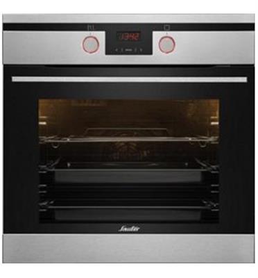"""תנור אפיה בנוי פירוליטי 60 ס""""מ 10 תוכניות גימור נירוסטה תוצרת SAUTER דגם CUISINE 3900IXP"""
