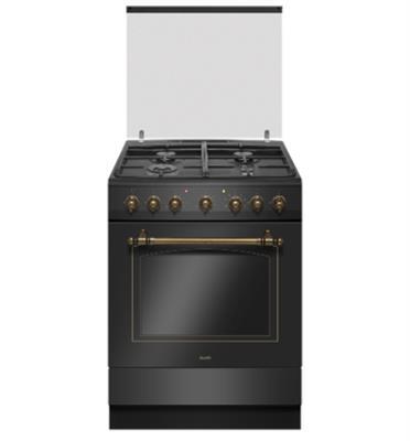 תנור משולב כיריים 65 ליטר בעיצוב רטרו יוקרתי 10 תוכניות אפיה תוצרת SAUTER דגם RUSTIC 7000B