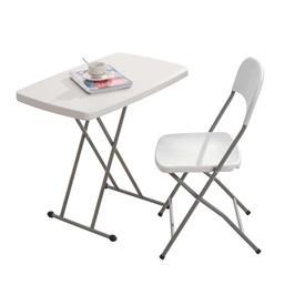 שולחן מתקפל מתכוונן 4 מצבים גובה בצבע לבן עמיד וחזק ונוח לאחסון מבית Australia Camp
