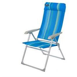כיסא אלומיניום מתקפל 8 מצבי ישיבה דגם Barcelona לגינה קמפינג וים כרית ראש מתפרקת Australia Camp