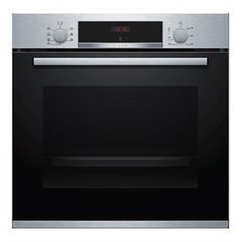 """תנור אפיה בנוי 60 ס""""מ 71 ליטר 5 תוכניות גימור נירוסטה תוצרת BOSCH דגם HBG533BS0Y"""