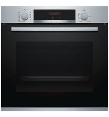 תנור אפייה בנוי 71 ליטר 5 תוכניות פירוליטי גימור נירוסטה תוצרת BOSCH דגם HBG573BS0Y