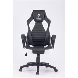 כסא גיימינג בעל כרית ראש מובנת ציפוי דמוי עור בשילוב בד תוצרת DRAGON דגם GALAXY