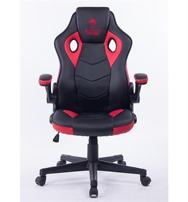 כסא גיימינג נוח במיוחד כולל כרית ראש מובנית ציפוי דמוי עור תוצרת DRAGON דגם COMBAT XL