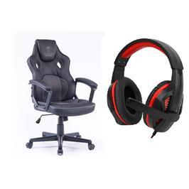 כסא גימינג בעל עיצוב יחודי ציפוי דמוי עור ובד נושם תוצרת DRAGON דגם COMBAT