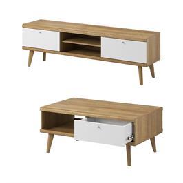 סט מזנון ושולחן מרשים מעוצב בגימור מודרני תוצרת אירופה מבית HOME DECOR דגם פרימו