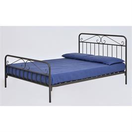 """מיטת מתכת DION מעוצבת זוגית למזרן 140*190 ס""""מ מבית BRADEX דגם DION"""