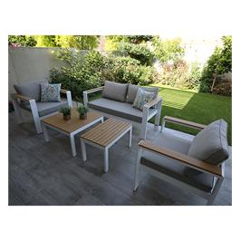 מערכת ישיבה דו מושבית עם שני כורסאות יחיד + שני שולחנות קפה מבית SCAB דגם Cavalli