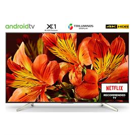 """טלויזיה """"75 4K Android TV בעיצוב Slice of living תוצרת SONY דגם KD-75XF8596BAEP מתצוגה"""