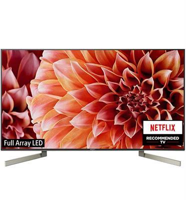 """טלויזיה """"65 4K LED Android TV תוצרת Sony דגם KD-65XF9005BAEP מתצוגה"""