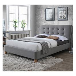 מיטת זוגית 160/200 עם בסיס מעץ מלא מעוצבת בריפוד בד מרשים מבית HOME DECOR דגם טנגו 160