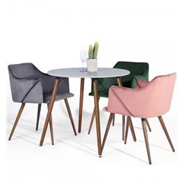 כסא קטיפה אקסקלוסיבי יוקרתי איכותי ונוח לחידוש פינת האוכל שלכם מבית HOMAX דגם אולדרידג'