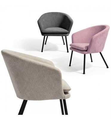 כורסא מעוצבת נעימה ומפנקת עיצוב קלאסי מעוגל תוצרת HOMAX דגם דיקסי
