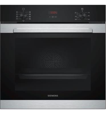 תנור בנוי 71 ליטר בעיצוב שחור עם נירוסטה תוצרת SIEMENS דגם HB314ABR0Y