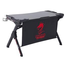 שולחן גיימינג מקצועי בעיצוב חדשני ותאורת LED מבית DRAGON דגם T1