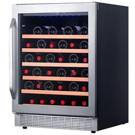 מקרר יין 126 ליטר מפואר עם מדפי עץ ואחסון של 48 בקבוקים מבית Landers דגם LA146WS