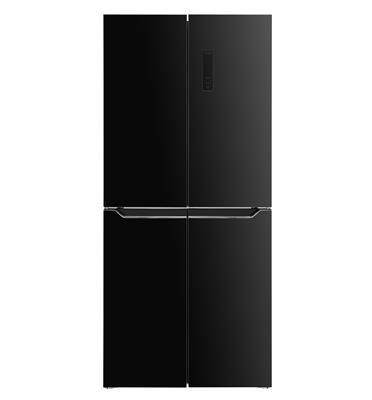 מקרר 4 דלתות 472 ליטר NO FROST זכוכית שחורה Open Space Inverter תוצרת HAIER דגם HRF472FB