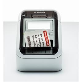 מדפסת מדבקות אלחוטית טרמית ישירה עד 110 מדבקות לשעה מבית Brother דגם QL-820NWB