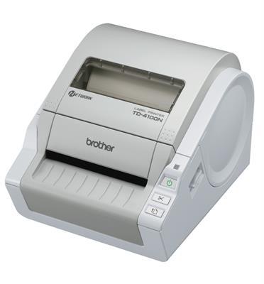מדפסת מדבקות מקצועית מתאימה להדפסת קבלות תגיות מחיר ועוד מבית Brother דגם TD-4000