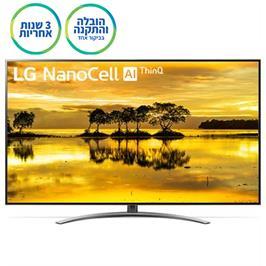 """טלוויזיית """"65 LED Smart TV ברזולוציית 4K Ultra HD ופאנל IPS תוצרת LG דגם NanoCell 65SM9000"""