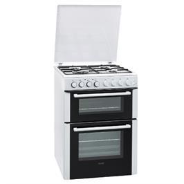 """תנור משולב דו תאי הלכתי 60 ס""""מ 4 להבות 7 תוכניות אפייה בגימור לבן תוצרת SAUTER דגם SDO770IW"""