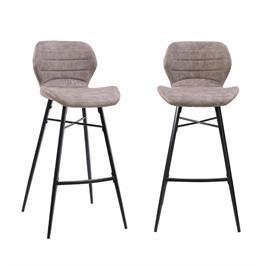 זוג כסאות בר עם רגלי מתכת מבית HOME DECOR דגם פלורידה