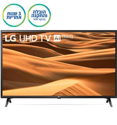 """טלוויזיה חכמה """"65 LED 4K Smart TV עם פאנל IPS, אינדקס עיבוד תמונה תוצרת LG דגם 65UM7340"""