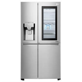 מקרר SBS InstaView דלת ליד דלת נפח 630 ליטר NO FROST גימור נירוסטה תוצרת LG דגם GR251INS