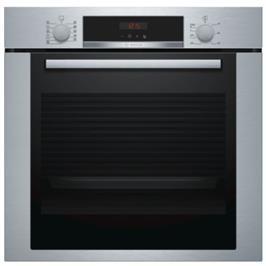תנור אפייה בנוי פירוליטי 71 ליטר 7 תוכניות טורבו 3D גימור נירוסטה תוצרת BOSCH דגם HBA374BS0Y