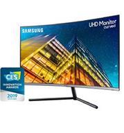 """מסך מחשב """"32 4K ULTRA HD מולטימדיה קעור תוצרת SAMSUNG דגם U32R590CWM"""