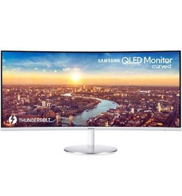 """מסך מחשב סופר אולטרה רחב וקעור """"34 QLED תוצרת SAMSUNG דגם C34J791WTM"""