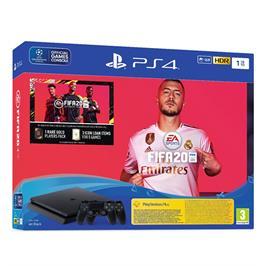 קונסולה פלייסטיישן PLAYSTATION 4 SLIM 1TB שני בקרים FIFA20 דגם CUH-2216B-DSF20