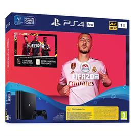 קונסולה פלייסטיישן PLAYSTATION PRO 4K 1TB בקר אחד FIFA 20 דגם CUH-7216B-FUT20