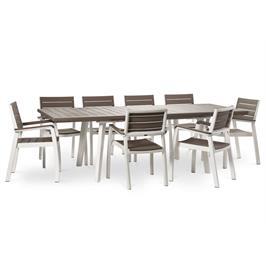 סט הרמוני שולחן ו-6 כסאותעם מסעדי ידיים ריהוט לגן מבית כתר פלסטיק דגם HARMONY SET