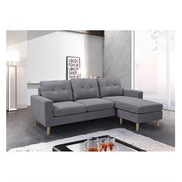 מערכת ישיבה פינתית הכולל תלת מושבית וספה דו-מושבית צידית מבית GAROX דגם FRIENDS