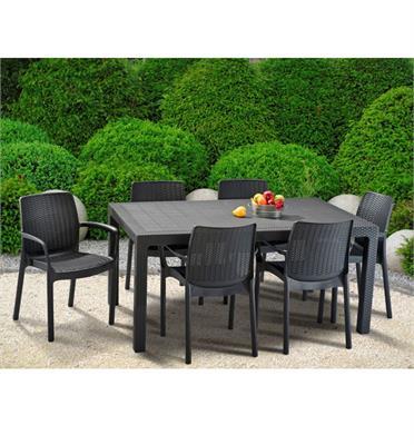 סט מלודי-באלי שולחן ו6 כסאות מבית KETER דגם MELODY SET
