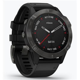 שעון הספורט המתקדם ביותר בעולם עם מגוון פעולות מבית GARMIN דגם fenix 6X PRO Sapphire Carbon