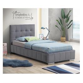 מיטת יחיד 90x190 מרופדת בד קטיפתי מבית HOME DECOR דגם ספניש
