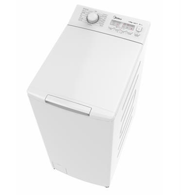 """מכונת כביסה פתח עליון 7 ק""""ג 1200 סל""""ד תוצרת MIDEA דגם MFE65-T1211"""