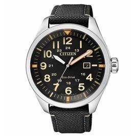 שעון יד מנגנון יפני אמין ומדויק לגבר עשוי פלדת אל חלד ועמיד במים מבית CITIZEN דגם CI-AW500024E