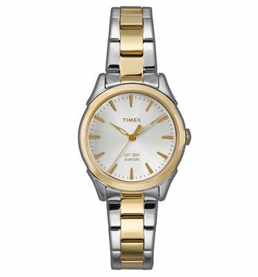 שעון יד לאישה עשויים פלדת אל חלד חזקה ועמידה לאורך שנים מבית TIMEX דגם TI-2P819