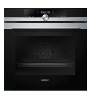 תנור בנוי בעיצוב שחור עם נירוסטה IQ700 תוצרת SIEMENS דגם HB672GBS1F