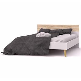 מיטה זוגית מעוצבת עם 2 שידות לילה תואמות תוצרת אירופה מבית HOME DECOR דגם דלתא