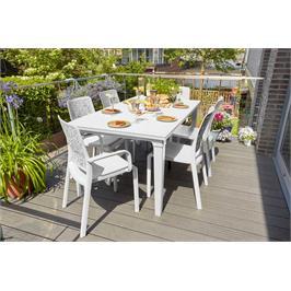 סט שולחן פוטורה עם 6 כסאות שרלוט (ללא מסעדי ידיים) מבית KETER דגם Futura Charlotte set