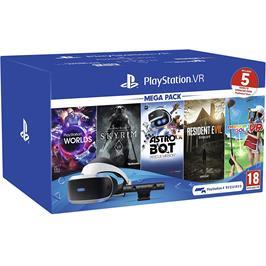 מארז חדש ערכת  Playstation VR Mega Pack 2 + מצלמה + 5 משחקים + קסדת VR דגם CUH-ZVR2EW-VRW2