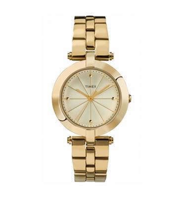שעון יד מוזהב אלגנטי לאישה מבית TIMEX דגם TI2P792